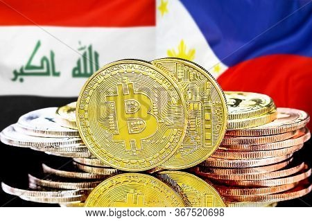 Concept For Investors In Cryptocurrency And Blockchain Technology In The Iraq And Philippines. Bitco