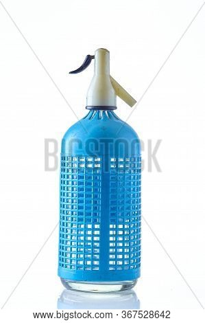 A Classic European Siphon Bottle Isolated On A White Background.
