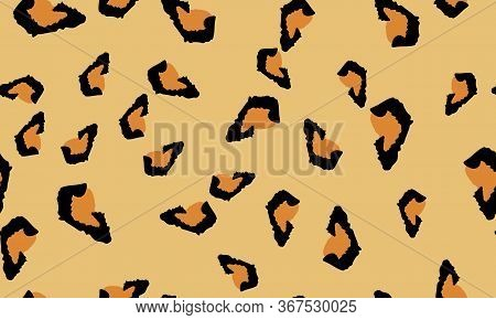 Leopard Print. Spotted Texture. Seamless Pattern. Animal Skin. Trendy Pattern. Spotted Leopard Print