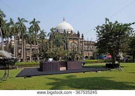 MUMBAI, INDIA - FEBRUARY 14, 2020: The Chhatrapati Shivaji Maharaj Vastu Sangrahalaya formerly Prince of Wales Museum in Mumbai, India