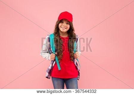 Schoolgirl Daily Life. Regular School Day. Stylish Schoolgirl. Casual Style Comfortable For Spending