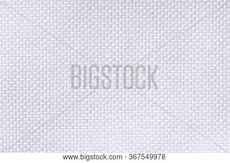 White Cotton Fabric Texture Background, Seamless Pattern Of Natural Textile. Synthetic Canvas. Mater
