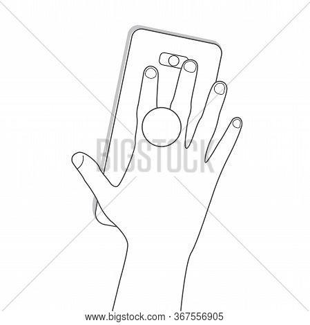 Pop Socket Phone Holder In Hand. Ring Holder For Phone Pop Socket. Smartphone Accessory Holder. Suct