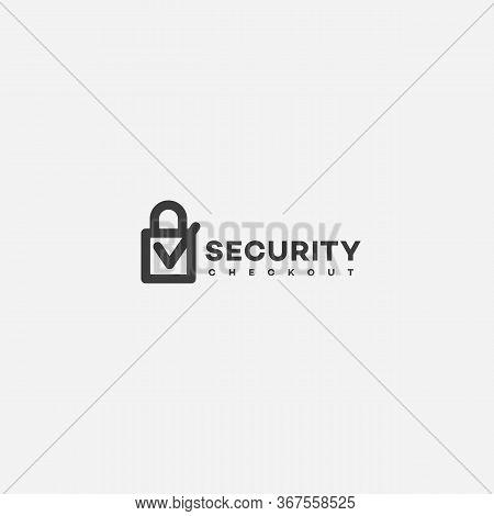 Security Checkout Service Logo Design Template. Vector Illustration.