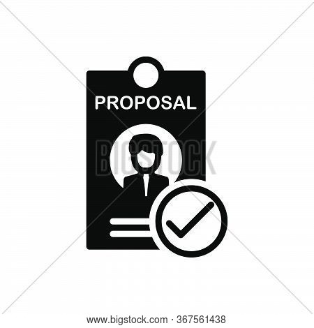 Black Solid Icon For Best-proposal Best Proposal  Motion