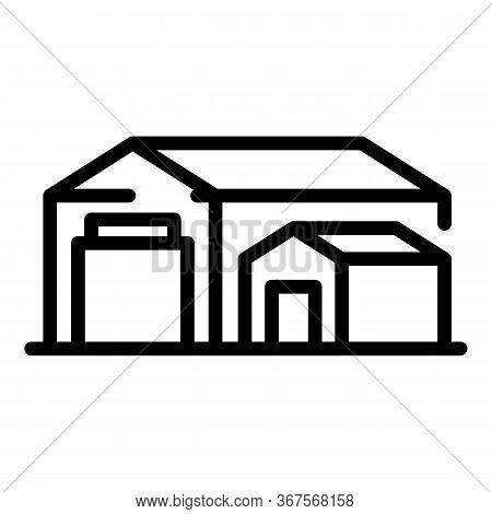 Fish Farm Warehouse Icon. Outline Fish Farm Warehouse Vector Icon For Web Design Isolated On White B