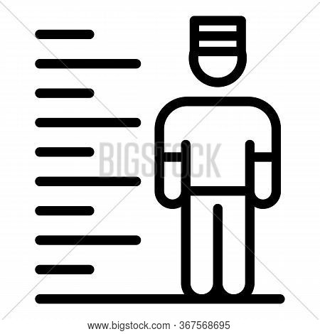 Prison Photo Icon. Outline Prison Photo Vector Icon For Web Design Isolated On White Background