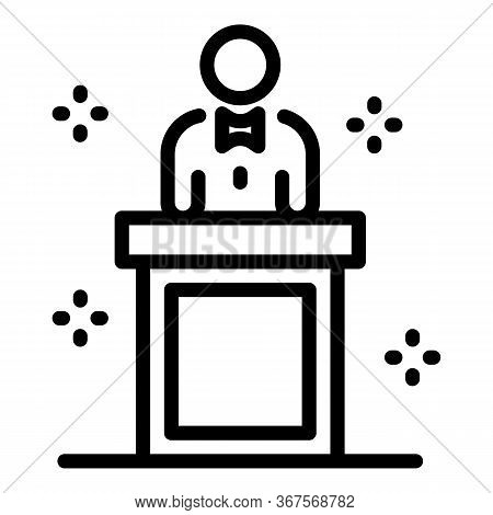Family Divorce Icon. Outline Family Divorce Vector Icon For Web Design Isolated On White Background