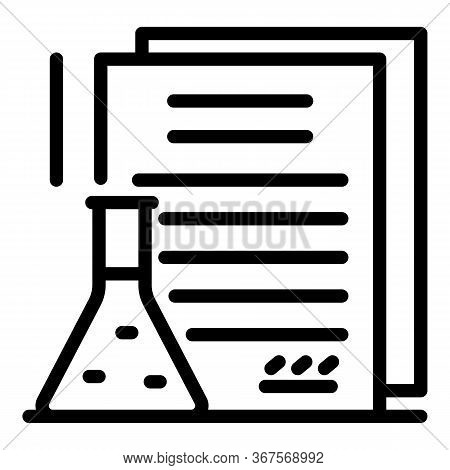 Chemical Criminal Expertise Icon. Outline Chemical Criminal Expertise Vector Icon For Web Design Iso