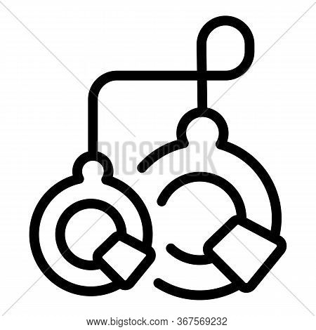 Prison Handcuffs Icon. Outline Prison Handcuffs Vector Icon For Web Design Isolated On White Backgro