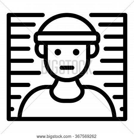Prison Foto Line Icon. Outline Prison Foto Line Vector Icon For Web Design Isolated On White Backgro