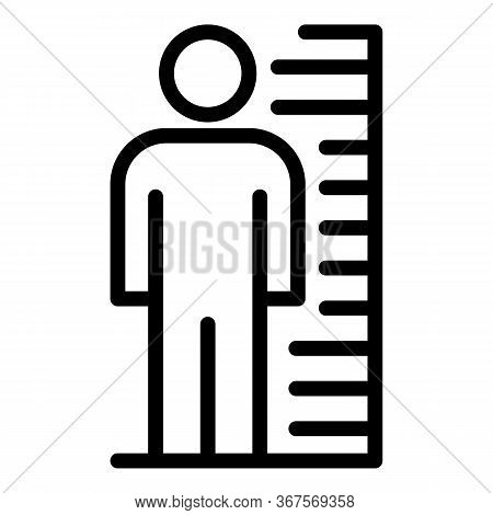 Prison Photo Height Icon. Outline Prison Photo Height Vector Icon For Web Design Isolated On White B