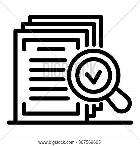 Notary Approved Document Icon. Outline Notary Approved Document Vector Icon For Web Design Isolated