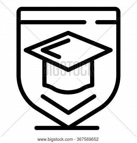 Graduated Hat Notary Icon. Outline Graduated Hat Notary Vector Icon For Web Design Isolated On White