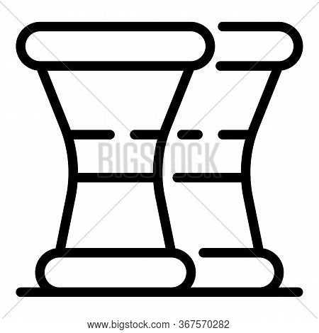 Pepper And Salt Shaker Icon. Outline Pepper And Salt Shaker Vector Icon For Web Design Isolated On W
