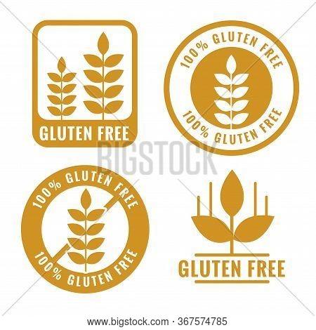 Set Of Gluten Free Labels And Symbol Design
