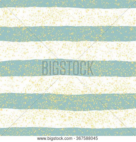 Tile Vector Pattern With Pastel Mint Green And White Stripes And Golden Dust Background