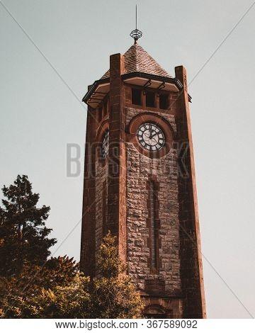 The Clock Tower In Grange Over-sands, Cumbria, Uk