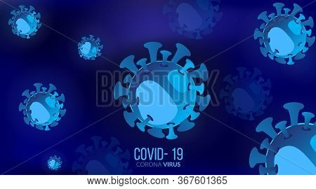 Virus And Bacteria Infection Background. Virus Cells Or Bacteria Molecule. Flu, Germs, Bacteria, Cel