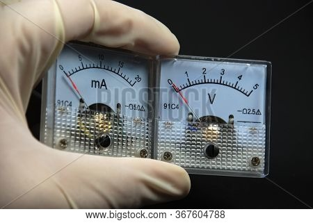 Stock Pictures Of Traditional And Analog Electrical Meters