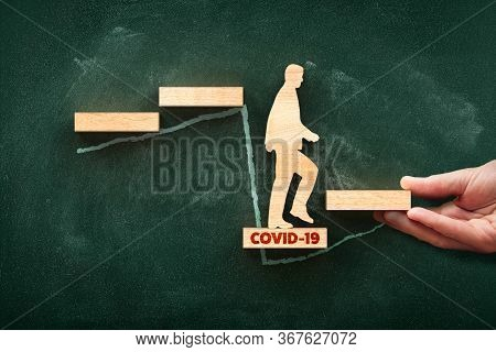 Post Covid-19 Era Helping Hand For Business And Economy Concept. Government Economic Stimulus After