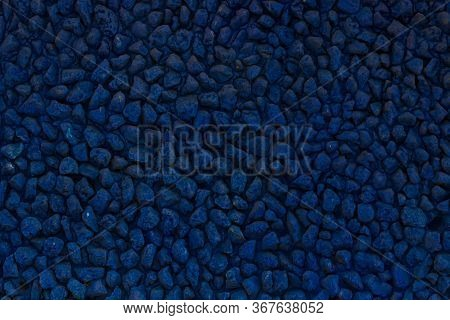 Background Of Blue Stones. Sharp To The Corners.