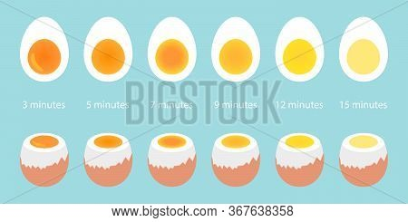 Vector Set Of Eggs On Blue Background