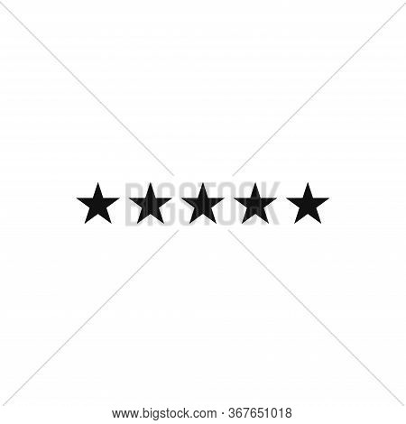 Five Star Icon Isolated On White Background. Five Star Icon In Trendy Design Style. Five Star Vector