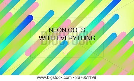 Funky Neon Blend Vector Background. Fluid Neon Bright Trendy Landing Page. Trendy Colorful Vibrant H