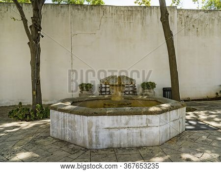 New Orleans, Louisiana, United States - October 6, 2019 Old Well Spanish Governor's Palace San Anton