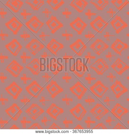 Tie Dye Japanese Geometric Autumn Seamless Pattern. Geo Wabi Sabi Bohemian Kimono Print. Boho Tie Dy