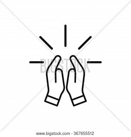 Pray Icon Isolated On White Background. Pray Icon In Trendy Design Style. Pray Vector Icon Modern An