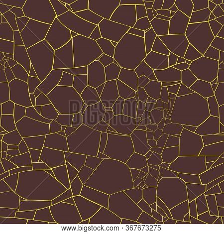 Vector Decorative Geometric Seamless Surface Texture Of Volcanic Magma