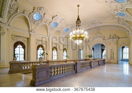 Budapest, Hungary - February 23, 2016: Interior Detail From Upper Floor Of Hungarian Agricultural Mu