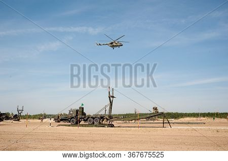 Tyumen, Russia - August 11, 2019: International Army Games. Safe Route Contest. Assemblage Of The Me