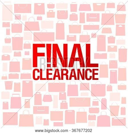 Final clearance sale poser design, rasterized version
