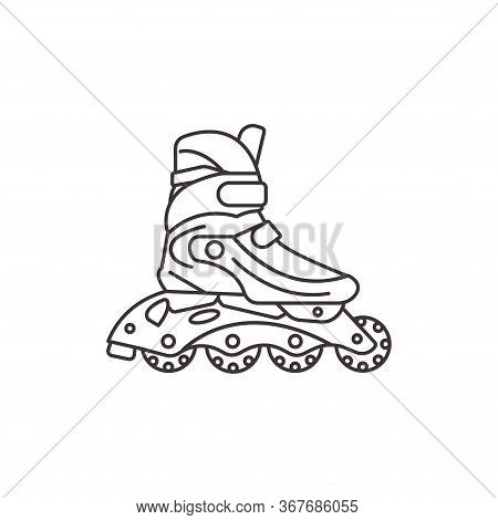 Roller Skates Icon. Roller Skates On A White Background. Sports Shoes For Recreation