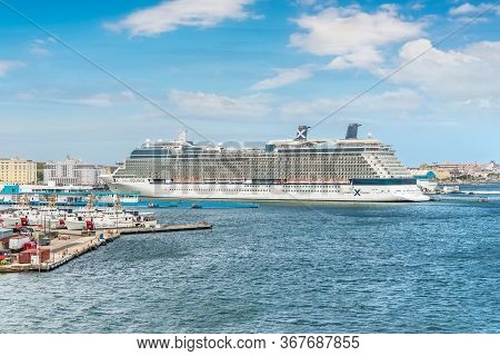San Juan, Puerto Rico - April 29, 2019: Cruise Ship Celebrity Equinox In Port Of San Juan, Puerto Ri