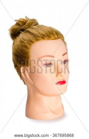 Mannequin of a young blonde girl