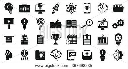 Modern Innovation Icons Set. Simple Set Of Modern Innovation Vector Icons For Web Design On White Ba