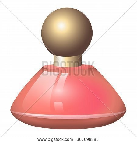 Fragrance Bottle Icon. Cartoon Of Fragrance Bottle Vector Icon For Web Design Isolated On White Back