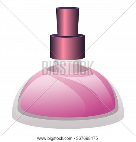 Glass Perfume Bottle Icon. Cartoon Of Glass Perfume Bottle Vector Icon For Web Design Isolated On Wh