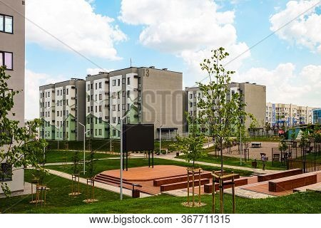 Belgorod, Russia - July 29, 2019: Southwestern Residential Area Of Novaya Zhizn (new Life) City Dist