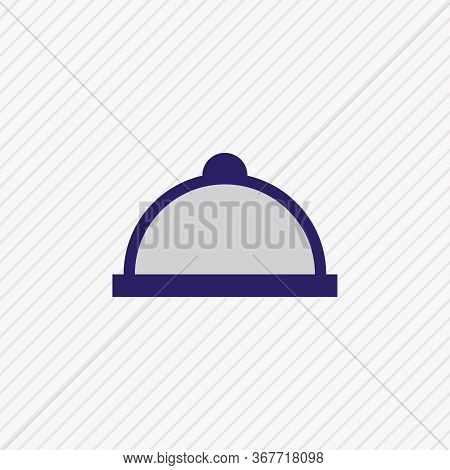 Vector Illustration Of Meal Icon Colored Line. Beautiful Meal Element Also Can Be Used As Tray Icon