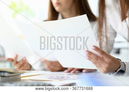Focus On Important Documents With Charts And Graphs Used For Special Intellectual Corporation Analys