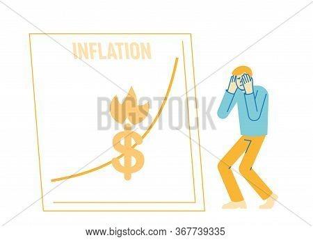 Inflation, Financial Crisis, Investor Lose Money Concept. Market Fall And Depreciation. Depressed Bu