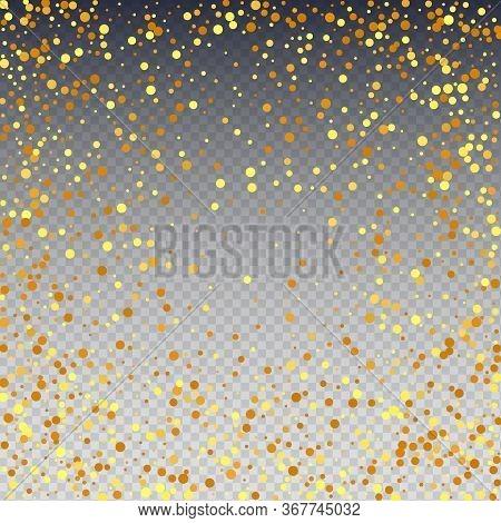 Vector Round Bokeh. Random Bridal Backdrop. Foil Border. Abstract Iridescent Birthday Card. Geometri