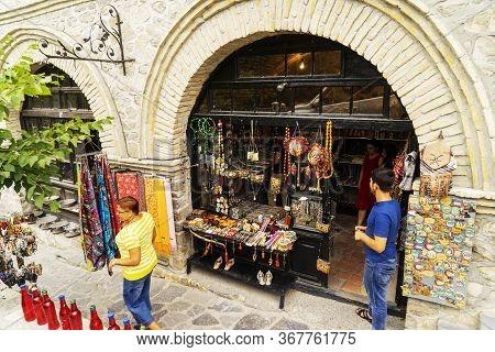 Shaki, Azerbaijan- 20 May 2019 : Antique Stores In Shaki, Azerbaijan.