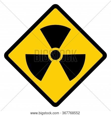 Radiation Toxic Symbol Isolated On White Background. Flat Warning Sign