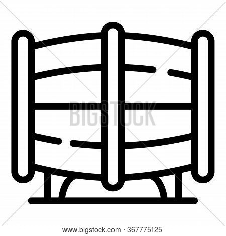 Barrel Of Rum Icon. Outline Barrel Of Rum Vector Icon For Web Design Isolated On White Background